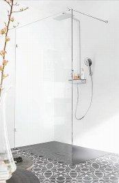 Prysznic, brodzik Conoflat czarnym Lava